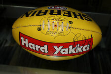 COLLINGWOOD - DANE SWAN HAND SIGNED 2010 SHERRIN FOOTBALL + PHOTO PROOF & C.O.A