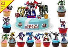 Transformers Cup Cake Scene Toppers Birthday Edible STANDUP PERSONALISE CUSTOM