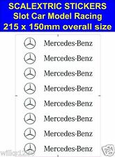 Scalextric Slot car stickers Model Race mercedes Logo Lego decal adhesive vinyl