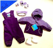 COLUMBIA Girls Snowsuit SET 6-12 months Toddler Jacket Bib/Pants Hat Mittens NEW