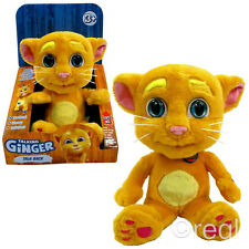 New Talk Back Ginger Talking Friends Soft Plush Toy Game Tom Official Licensed
