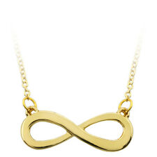 "Gold Color High Shine Infinity Sign Pendant with 16"" Chain"