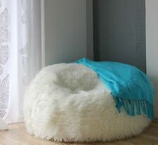 LARGE LUSH & SOFT ALPACA FAUX FUR BEAN BAG CLOUD BEAN BAG CHAIRS COVER