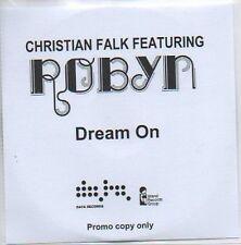 (612B) Christian Falk ft Robyn, Dream On - DJ CD