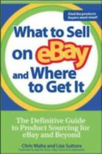 WHAT TO SELL ON EBAY AND WHERE TO GET IT - NEW PAPERBACK BOOK
