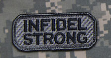 Mil-Spec Monkey Infidel Strong Morale Patch ACU-D Hook Back