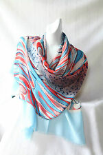 Red, White & Blue Pattern Polyester Scarf