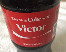 Share a COKE with Victor 20 fl oz Collectible Bottle Rare Coca-Cola 10/26/15