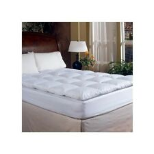TWIN Feather Bed Topper Down Pad Mattress Cover Pillow Top Matress Cotton Luxury