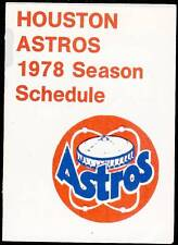 1978 HOUSTON ASTROS HOUSTON CHRONICLE BASEBALL POCKET SCHEDULE