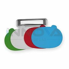 Colour Coded Index Chopping Board Set 4 Cutting Boards + Stand Kitchen