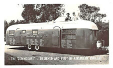 "Los Angeles CA Airstream Trailers ""THe Comodore"" Land Liner RPPC Postcard"