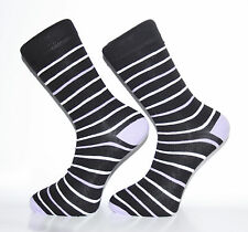 High Quality Black and White Striped Socks