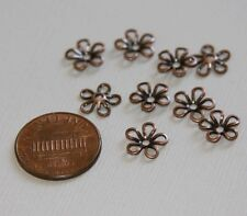 50 pcs Antiqued copper plated Brass bead cap 9mm