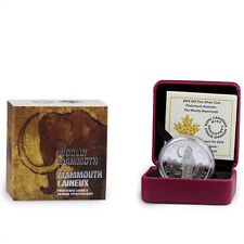 2014 Canada 1 oz. $20 Proof Silver Prehistoric - Woolly Mammoth In OGP SKU32289