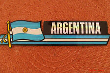 Bandera Argentina Flag Reflective Sticker Coated Finish Side Kick Decal 12x2/12