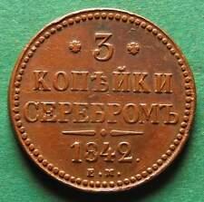 Russland 3 Kopeken 1842 EM selten nswleipzig