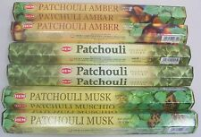 Hem Incense Set 6 x 20 = 120 Sticks (Patchouli, Patchouli Amber, Patchouli Musk)