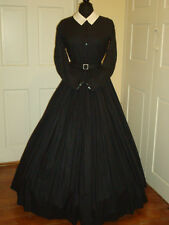 Civil War Reenactment Day Dress Size 10 Black  Mourning