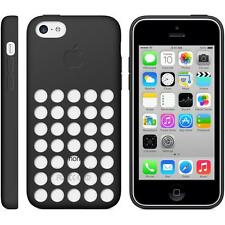 Genuine Apple Silicone Round Up Soft Microfiber Case Cover for iPhone 5C - Black