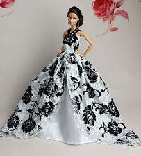 Faits à la main Princesse mariée robe & vêtements pour poupée Barbie