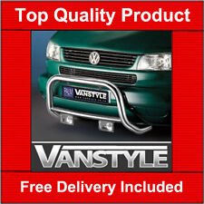 VW T4 LONG NOSE TRANSPORTER A BAR BULL BAR QUALITY STAINLESS STEEL POLISHED