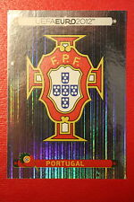 Panini EURO 2012 N. 253 PORTUGAL BADGE  NEW With BLACK BACK TOPMINT!!
