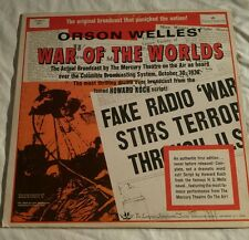 ORSON WELLES: The War Of The Worlds. Longines Symphonette 4001 Vinyl LP