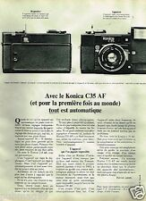 Publicité advertising 1980 Appareil Photo Konica C35 AF
