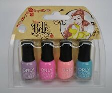 4 Orly Color Blast Disney Belle Mini Nail Polish Collection - Brand New