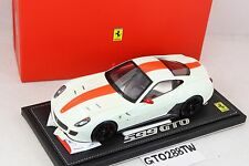 BBR 1:18 scale Ferrari 599 GTO - Avus White/Red Strip (Limited 50pcs) P1816W