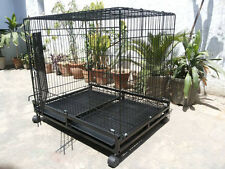 "ROYAL PET Dog Cage Imported  49"" Inch For Dog and Birds with wheels"