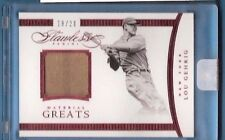 LOU GEHRIG 2016 FLAWLESS #d 18/20 GAME USED JERSEY CARD NEW YORK YANKEES GREAT