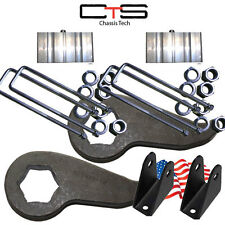 "Lift Kit Chevy Front Torsion Keys 3"" 2""Rear Block=C Shok Ext 00-10 8Lug Truck"