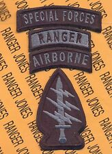 US Army Special Forces Group Airborne Ranger Stealth SFGA TOP patch set