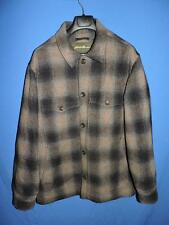 Eddie Bauer Tall L NEW Gray Brown Plaid Wool Coat Lined Insulated Button LT TL