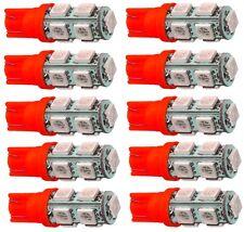 10x ampoule T10 W5W 12V 9LED SMD rouge veilleuses éclairage intérieur coffre