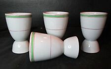 "Vintage 4 Egg Cups England Restaurant Ware 4"" Tall"