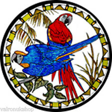 STAINED GLASS WINDOW ART - STATIC CLING  DECORATION - ROSELLAS AUSTRALIAN PARROT