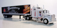 KENWORTH W900 Semi Truck Diecast 1:43 Scale Bundy Rum (BLK) Custom Graphics