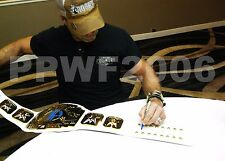WWE SHAWN MICHAELS SIGNED ADULT WHITE INTERCONTINENTAL CHAMPIONSHIP BELT W/PROOF