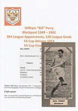 BILL PERRY BLACKPOOL 1949-1962 RARE ORIGINAL SIGNED MAGAZINE PICTURE CUTTING