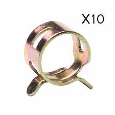 """10pcs 0.5"""" 12mm Spring clip Fuel Oil Line Silicone Vacuum Hose Clamp"""