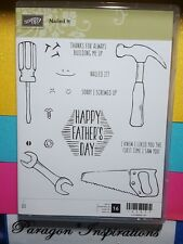 NEW Stampin Up NAILED IT Clear Mount Stamp Set Father's Day Tools