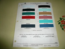 1953 Lincoln Ditzler Color Chip Paint Sample