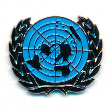 UN UNO Vereinte Nationen Welt Symbol Badge Metall Button Pin Anstecker 0788