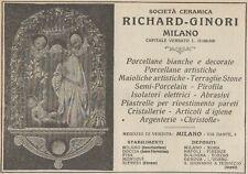 Z1543 Società Ceramica RICHARD-GINORI - Pubblicità d'epoca - 1925 Old advert