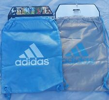 Adidas Shoe Bag Soccer Football Backpack SACK Gym Blue/Gray Sports Sack Bag