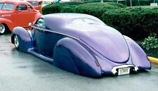 1940s Ford Hot Rod Race Car Custom Concept Dragster Drag Carousel Purple 1 18
