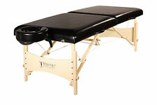Master Massage 30 Inch Balboa Portable Table Package Bed Black Minor Defective